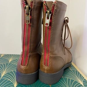 Shoes - Brown Moto Boots